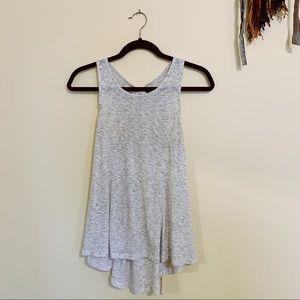 Akemi & Kin • grey lace back tank blouse